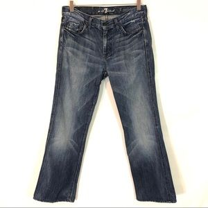 """7 FOR ALL MANKIND """"A"""" POCKET BOOTCUT JEANS SIZE 30"""